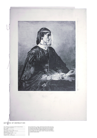 Methods Of Destruction / Nanna as Virginia or Black Lady, 153,5 x 111,5 cm, Grafit on Paper, 2011